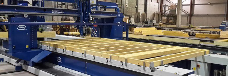 Maszyny do produkcji domów modułowych firmy MBA